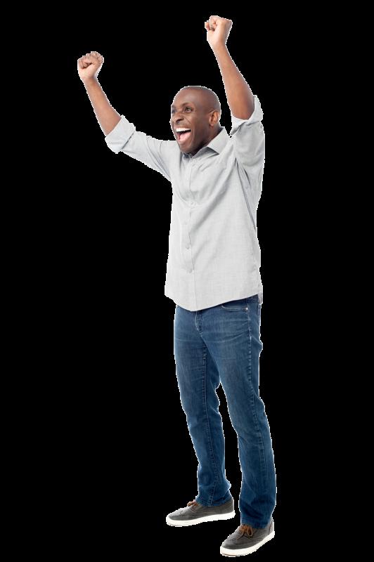 Man Happy About Testimonials